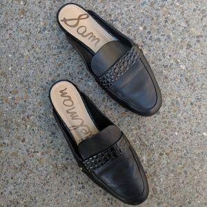 Sam Edelman Black Perri Loafer Mule Size 8.5